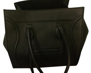 Céline Phantom Tote Designer Satchel in Black