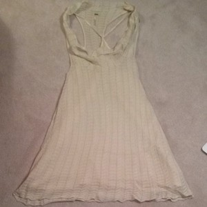 Free People short dress White/gold on Tradesy