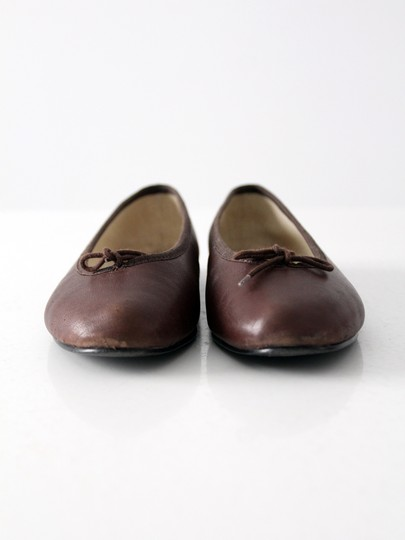 London Sole Ballet Leather Dark Brown Flats