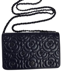 5ad642b737c6 Chanel Wallet Camellia Woc Chain with Crystal Black Cross Body Bag ...