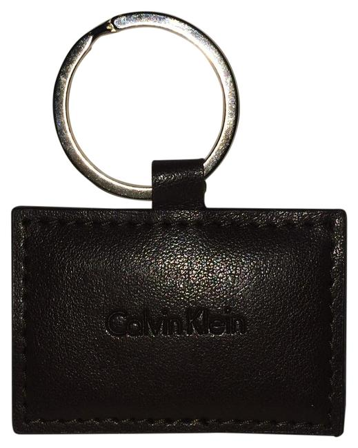 Item - Brown Leather and Silver Metal Gwp Key Fob In