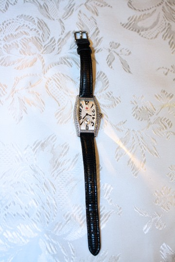 Michele Michele Diamond Coquette Stainless Steel Watch **Vintage** Image 2