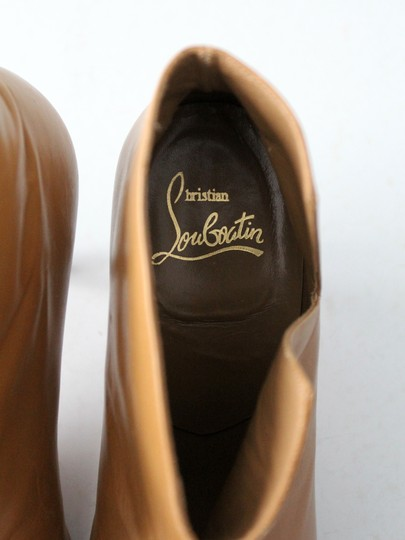 Christian Louboutin Ankle Leather Nude Tan Boots