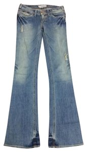 J & Co Jeans Studded Vintage Flare Leg Jeans-Distressed