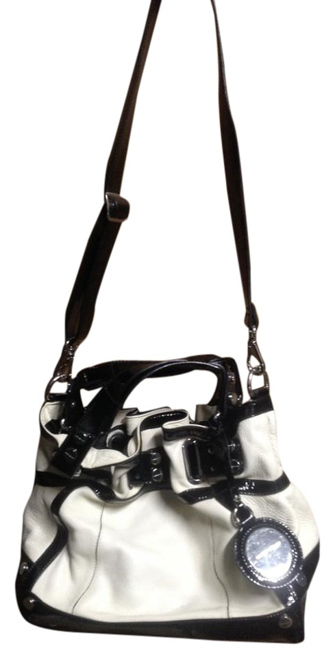 bc6ef50af9 Karen Millen Pocketbook Black & White Leather Shoulder Bag - Tradesy