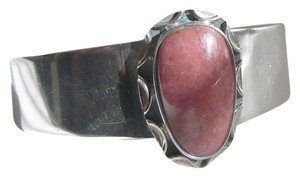 Mine Finds by Jay King Mine Finds By Jay King .925/Signed DTR Sterling Silver Rhodonite Gemstone Cuff Bracelet size 6 3/4