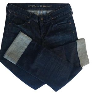 Citizens of Humanity Capri/Cropped Denim-Dark Rinse