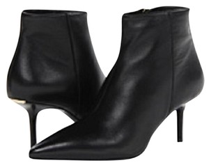 Burberry Kitten Heel Ankle Calf Leather Black Boots