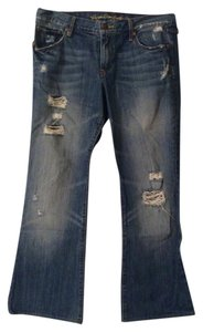 Ruehl No.925 Flare Leg Jeans-Distressed