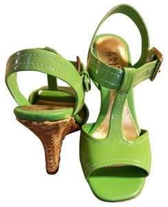 Franco Sarto Green Wedges