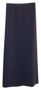 Josephine Chaus Maxi Skirt Blue and white polka dot