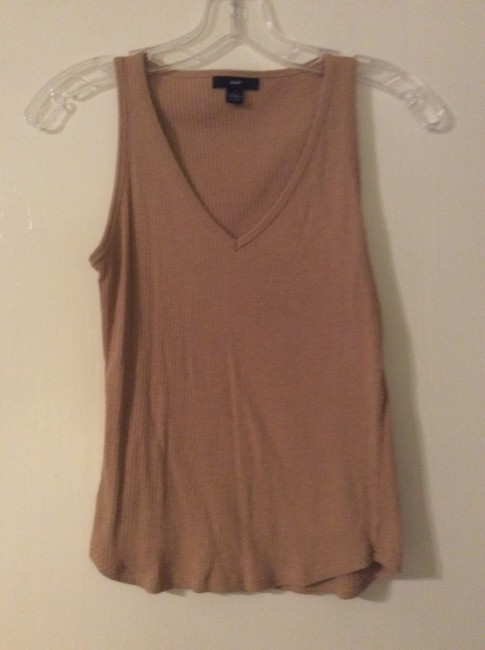 Item - Tan V Neck Tee Shirt Size 4 (S)