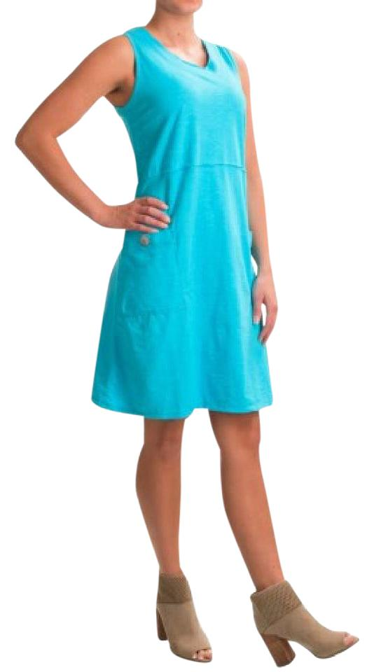 neon buddha Turquoise Napa Tank Mid-length Short Casual Dress Size 2 ...