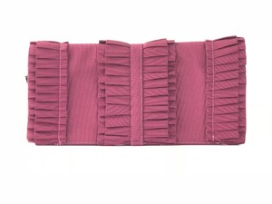 RED Valentino Pleated Wristlet in Wine Red