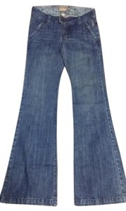 Abercrombie & Fitch Vintage Flare Leg Jeans-Medium Wash