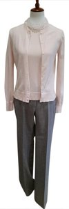J.Crew Petite Wool Trouser Straight Pants Heather Grey