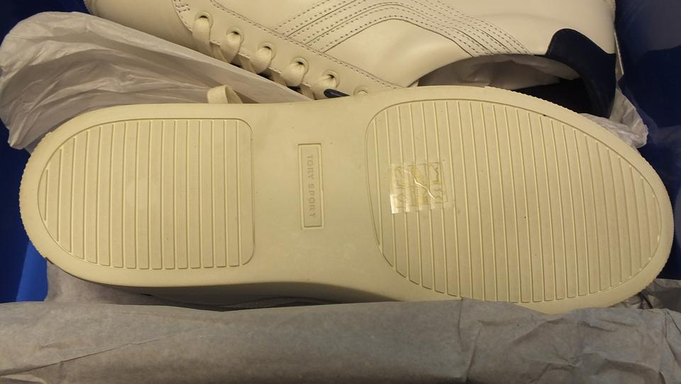 33aa8838ce1a Tory Burch White Blue Sport Chevron Sneakers Style 40051 Size 8.5 Sneakers  Size US 8.5 Regular (M