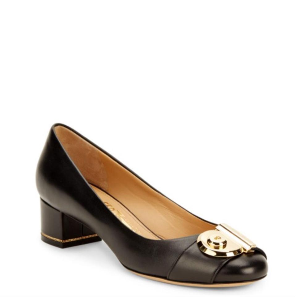 salvatore ferragamo leather black pumps on sale 27 off pumps on sale. Black Bedroom Furniture Sets. Home Design Ideas