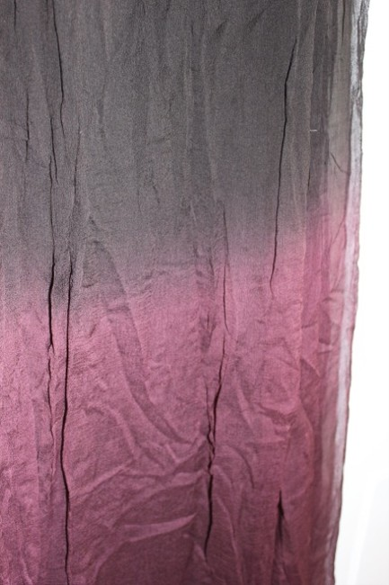 Chan Luu Ombre Black Wine Burgundy Maxi Skirt Black/Burgundy Ombre
