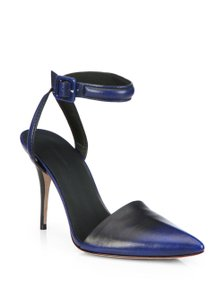 Alexander Wang Leather Burnished Blue and Black Pumps