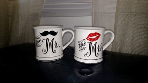 Macy's White Mr. and Mrs. Coffee Mugs Casual China