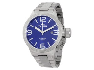TW Steel CB15 Canteen Men's Silver Stainless Steel Bracelet With Blue Dial