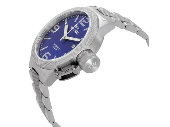 TW Steel CB15 Canteen Men's Silver Stainless Steel Bracelet With Blue Dial Image 1