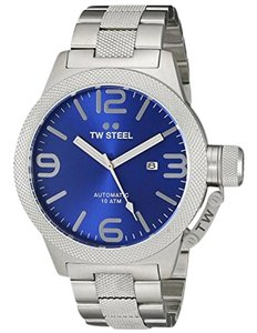 TW Steel CB16 Men's Silver Stainless Steel Bracelet With Blue Analog Dial