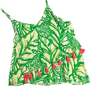 Lilly Pulitzer short dress Lime Green/Yellow/Neon Coral on Tradesy