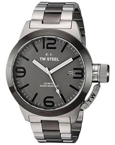 TW Steel CB205 Canteen Men's Two Tone Stainless Steel Bracelet With Grey Dial