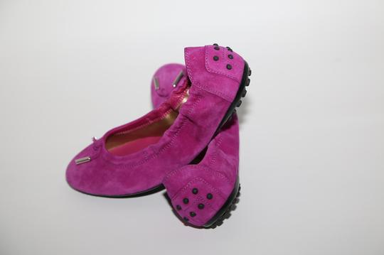 Tod's Suede Pink Flats Image 1