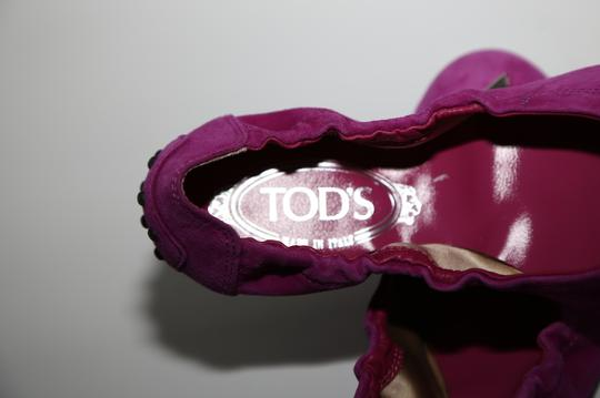 Tod's Suede Pink Flats Image 10