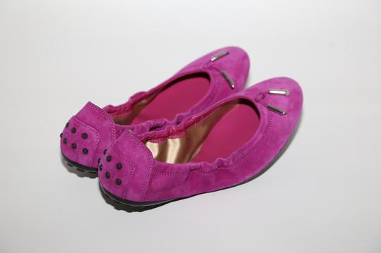 Tod's Suede Pink Flats Image 4