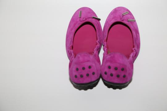 Tod's Suede Pink Flats Image 5