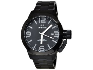 TW Steel CB212 Canteen Men's Black Stainless Steel Bracelet With Black Dial
