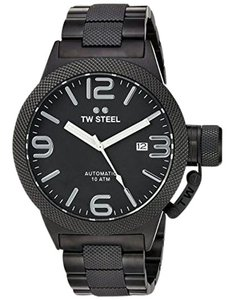 TW Steel CB215 Canteen Men's Black Stainless Steel Bracelet With Black Dial