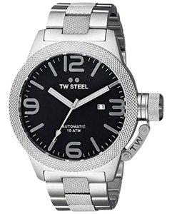 TW Steel CB5 Canteen Men's Silver Stainless Steel Bracelet With Black Dial