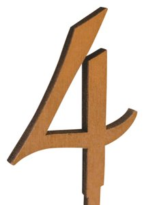 Gold Wooden Table Numbers 1-12 Tableware