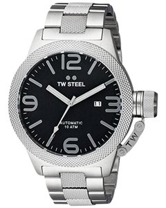 TW Steel CB6 Canteen Men's Silver Stainless Steel Bracelet With Black Dial