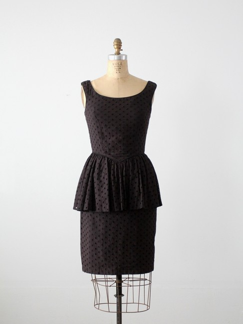 Betsey Johnson Vintage Peplum Eyelet Dress