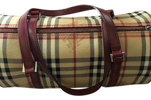 Burberry Satchel in Tan Haymarket