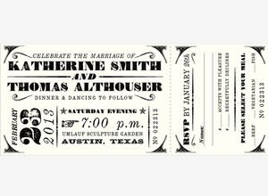 Austin: Private Label Semi-custom Collection Wedding Invitations 100ct