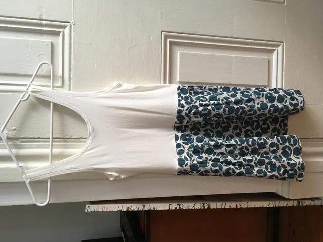 Theory short dress White with Blue pattern skirt on Tradesy Image 4