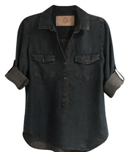 Bella Dahl Button Down Shirt blue