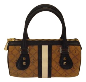 L.A.M.B. Small Satchel in Light Brown and Black