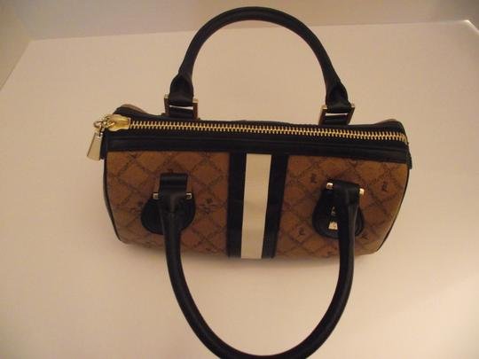 L.A.M.B. Small Satchel in Light Brown and Black Image 2