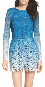adelyn rae Ombre Lace Embroidered Lined Dress