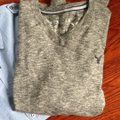 American Eagle Outfitters Button Down Shirt Heathered Gray and Blue Image 1