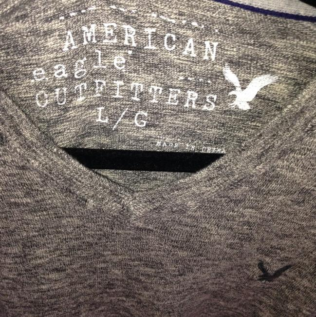 American Eagle Outfitters Button Down Shirt Heathered Gray and Blue Image 10