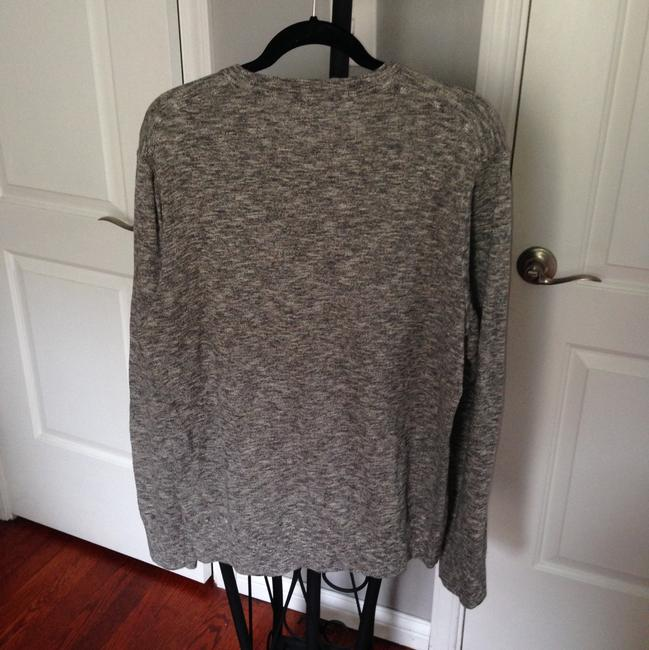 American Eagle Outfitters Button Down Shirt Heathered Gray and Blue Image 11